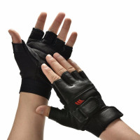 Перчатки мужские черный тяжестей тренажерный зал тренировки