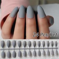 Накладные ногти в матовом варианте, 24шт