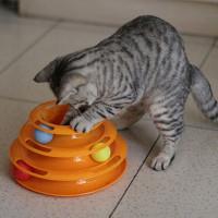 Трехуровневая игрушка для кошки