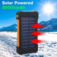 Портативный 30000Мамах солнечная энергия банка эффективный двойной