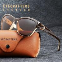 Роскошные бренды дизайн кошачий глаз поляризованные солнцезащитные
