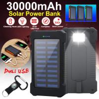 30000mAh солнечной энергии банка Двойной USB Порт