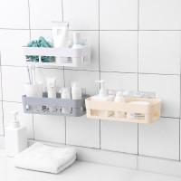 Самоклеящаяся настенная пластиковая полка корзина для ванной