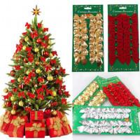 12Pcs Рождественская елка лук украшения фенечки Новогодние
