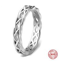 925 Стерлинг Серебряные кольца женщин уникальный витой