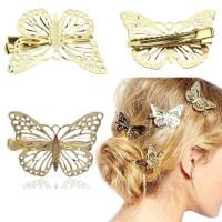 Заколка клипса бабочка для волос