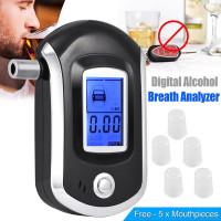 Цифровой LCD полиции Алкотестер дыхание тест алкоголь