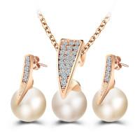 Роскошный уникальный моды Стад серьги кулон ожерелье