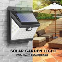 40 LED солнечной стены света IP65 датчик
