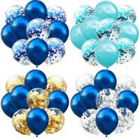 10pcs/Set 12inch Латекс шары Цветные Конфетти День