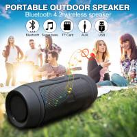 Портативный Bluetooth Беспроводной динамик Power Bank Басс
