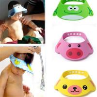 Регулируемым шляпу малыш дети купания душ