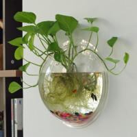 Настенная декоративная стеклянная ваза для цветов. Материал: