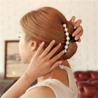 Заколка для волос с искусственными жемчужинами
