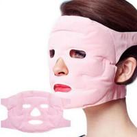 Турмалиновая маска для лица. Цвет: розовый