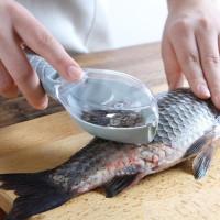 Пластиковый скребок для очистки рыбы с контейнером