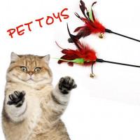 Кошка котенок перо & Белл дразнилку стержень палочка