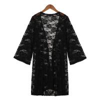 Женские кружева крючком рукав кимоно топы пальто