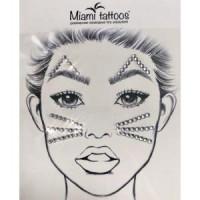 Кристаллы стразы для лица Кошка Miami Tattoos