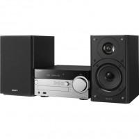 Микросистема Sony CMT SX7 черный/серебристый 100Вт/CD/FM/USB/BT