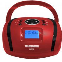 Аудиомагнитола Telefunken TF SRP3449 красный