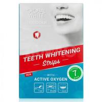 Global white Отбеливающие полоски для зубов Активный