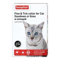 Beaphar Ошейник антипаразитарный для кошек, чёрный