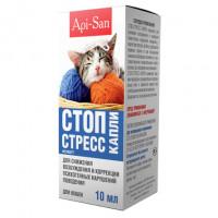 Api San Стоп Стресс Успокоительные капли для кошек,