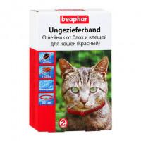 Beaphar Ошейник антипаразитарный для кошек, красный