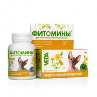 VEDA Фитомины Кормовая добавка для кошек при заболеваниях