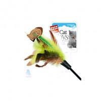 GiGwi Рыбка Игрушка дразнилка для кошек, с перьями
