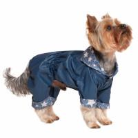 Dogmoda Деним Дождевик двусторонний для собак, унисекс