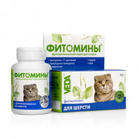 VEDA Фитомины Кормовая добавка для кошек для кожи