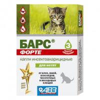 АВЗ Барс Форте Капли инсектоакарицидные для котят,