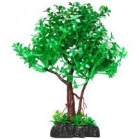 УЮТ Растение аквариумное дерево зеленое с белым,