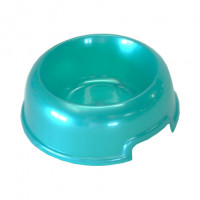 Homepet Миска для собак, пластик, бирюзовый перламутр
