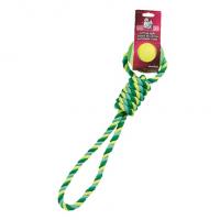 Flamingo Игрушка для собак, верёвка с теннисным