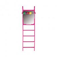 Flamingo игрушка для птиц, лесенка с зеркалом