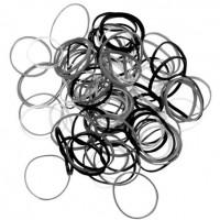резинки для волос силиконовые черные 15гр