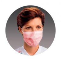 маска медицинская нестерильная одноразовая procedure pink 50шт
