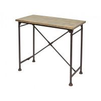 Стол барный SHT01 Дуб серо коричневый винтажный