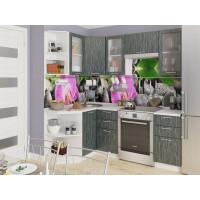 Угловая кухня Валерия М 05 Черный металлик