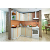Кухонный гарнитур левый Бланка СТЛ.123.00  Белый/Дуб
