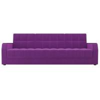 Прямой диван Атлантида Б/С Микровельвет Фиолетовый