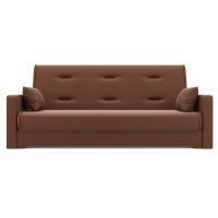 Прямой диван Надежда Экокожа коричневый