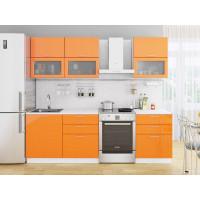 Прямая кухня Валерия М 01 Оранжевый глянец