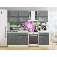 Прямая кухня Валерия М 01 Черный металлик