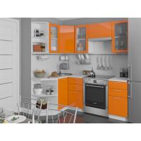 Угловая кухня Валерия М 05 Оранжевый глянец