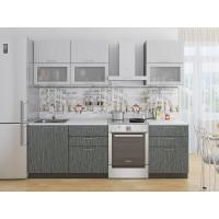 Прямая кухня Валерия М 01 Серый металлик