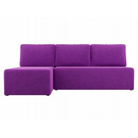 Угловой диван левый Поло Микровельвет Фиолетовый